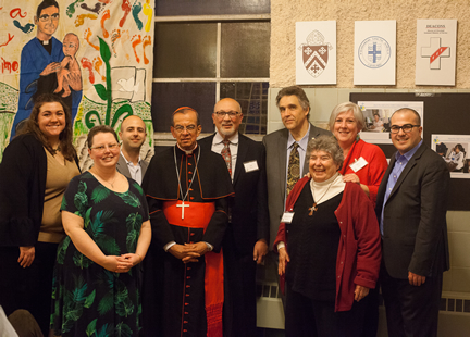 Cardinal Rosa Chavez with COAR's Board of Trustees