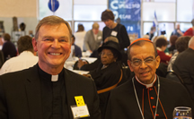 Cardinal Rosa Chavez with Fr. Steve Vellenga, Director of the Society for the Propagation of the Faith and Cleveland Latin American Mission Team