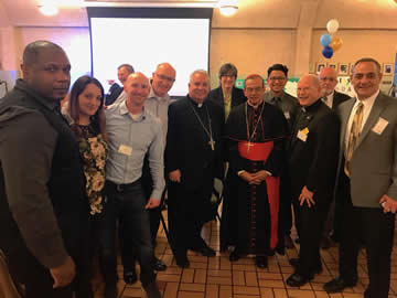 Cardinal Rosa Chavez and Bishop Nelson Perez with COAR supporters and St. Joseph Parish, Strongsville