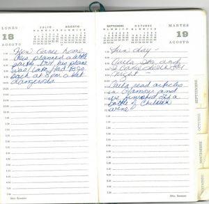 Jean Donovan diary - Aug18-19, 1980