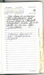 Jean Donovan diary - Aug 7, 1980